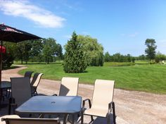 Rolling Meadows Golf and Country Club Patio Facing the Beautiful Golf Course