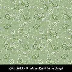 Bandana Retrô Verde Maçã (código 5613)