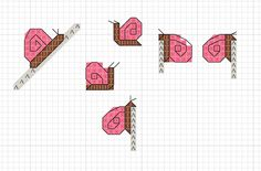 hancock's house of happy: Snail Sketch: Mini Free Cross Stitch Chart