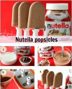 Nutella/melk-ijsjes