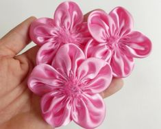 Gold Satin Ribbon Roses Craft Scrapbooking Shabby Chic 25mm Craft Flower