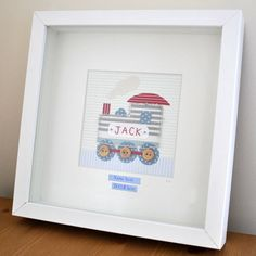 Items similar to Little Train Picture, A Baby Boy gift - perfect for Birthday, Christening, Birth or Nursery - can be personalised on Etsy