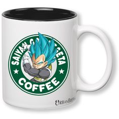 Dragon Ball Z Vegeta Super Saiyan God Starbucks Mug (Perfect Christmas Gift For Family, Friends, Vegeta and DBZ Fans!) FREE GIFT WRAP - UrbanBrew LLC * Amazing product just a click away  : Cat mug