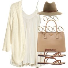 A fashion look from March 2015 featuring white mini dress, 3/4 sleeve knit tops and braided sandals. Browse and shop related looks.