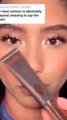 Nose Makeup, Contour Makeup, Skin Makeup, Eyeshadow Makeup, Makeup Eye Looks, Crazy Makeup, Pretty Makeup, Simple Makeup, Makeup Videos
