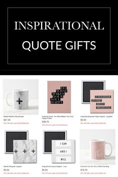 Inspirational quote products shop   Gift ideas + Modern Design Home decor for the girl boss lady boss girlfriend, BFF Best friend, Wife gift ideas for her.
