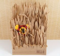 Jungle Theme card made with Martha Stewart Fringe scissors and a lunch bag