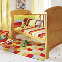 Rainbow Cot Or Cot Bed Bumper, Nursery Collection In Rainbow, Shop By Nursery Theme, Nursery