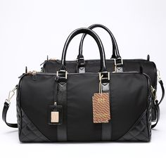 Original Nylon Leather Travel Bags Carry on Luggage Bags Men Duffel Bags  Travel Tote Large Capacity 73df2910ca