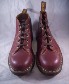 Dr Marten oxblood Church shoes (aka Monkey boots). A favorite of mine.