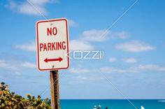 no parking - No parking sign at Palm Beach, Florida.