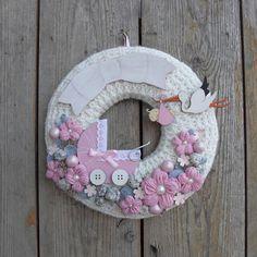 Baby Shower Parties, Shower Party, Baby Decor, Crochet Earrings, Wreaths, Diy, Crafts, Handmade, Door Hangings