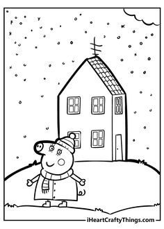 Coloring Sheets, Coloring Books, Peppa Pig Coloring Pages, Rebecca Rabbit, Flamingo Pool, Fun Group, Snowy Day, Mother And Father, Constellations