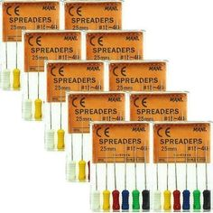 10X Mani Spreaders 25mm #15-40 Stainless Steel Dental Endo Root Canal Hand Files #Shaind2014