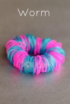 Rainbow loom worm bracelet!