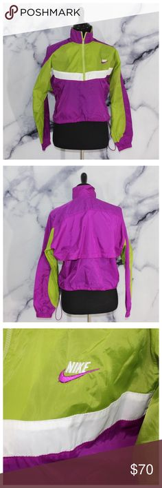 Vintage Nike Color Block Windbreaker Amazing vintage condition! No flaws whatsoever. Gorgeous colors. Colorblocking on front only. Size S. For any additional info or measurements please comment below. We are fast to respond. Ships same day M-SAT✅ Nike Jackets & Coats