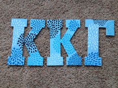 Sorority Letters- Wooden- Kappa Kappa Gamma- Paisley on Etsy, $45.00