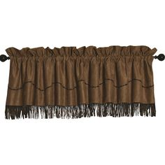 HiEnd Accents Barbwire Tan Valance (94 CAD) ❤ liked on Polyvore featuring home, home decor, window treatments, curtains, window coverings, embroidered window curtains, embroidered curtains et cross home decor