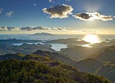View from Hirakimata/Mt Hobson, Great Barrier Island Aotea, New Zealand. Photo: Andris Apse ©