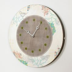 View all Ugone and Thomas clocks at http://www.sweetheartgallery.com/collections/janna-ugone-and-thomas-wall-clocks-contemporary-artisan-designer-wall-clocks