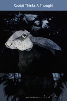 """You might think that it is a foolish notion to rely on a rabbit to do the thinking when you are trying to solve a challenging puzzle, but that is just what the moths were counting on. Acrylic on panel 8"""" x 6"""" Pet Birds, Whale, Beast, Artsy, Horses, Draw, Fine Art, Things To Sell, Paintings"""