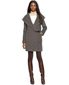 Lauren Ralph Lauren Wool-Cashmere-Blend Draped Coat - Coats - Women - Macy's
