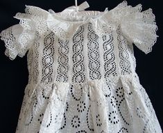 Maria Niforos - Fine Antique Lace, Linens & Textiles : Antique Christening Gowns & Children's Items # CI-26 Broderie Anglaise Girl's Dress