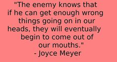 Joyce meyer quote  #battlefieldofthemind #joycemeyer