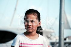 Beautiful Young Pacific Island Girl royalty-free stock photo