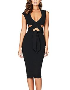 The sexy bodycon dress is sure to make you the limelight in public. Never goes out of style with a classic figure-flattering shape design which is suitable for any casual and formal gatherings.