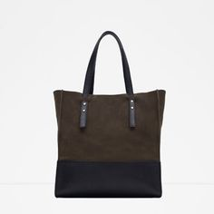 ZARA - WOMAN - COMBINED LEATHER TOTE