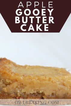 Pear Dessert Recipes, Desserts For A Crowd, Apple Recipes, Fun Desserts, Fall Recipes, Sweet Recipes, Goey Butter Cookies, Gooey Butter Cake, Easy Baking Recipes