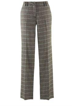 Avenue Plus Size Glenda Cadburry Plaid Straight Leg Pant $23.99