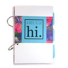 organize sentimental cards, keepsakes, notes in A Note to Say Hi, card and letter holding journal