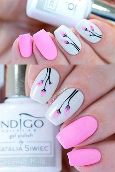 Floral Spring Nail Art #nailart