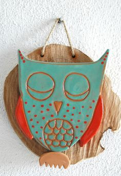 {ceramic owl} sweet little sleepy owl