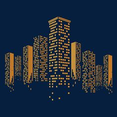 Vector square city buildings, Building Grid, City, Digital City PNG and Vector
