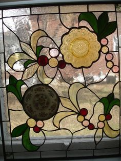 Antique Plate Stained Glass Panel by TerraeLuce on Etsy, $250.00