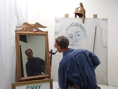 Norman Rockwell Painting Himself