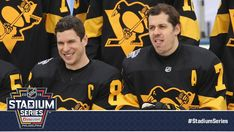 """""""Sidney Crosby and are the only two to play in every outdoor game the team has participated in. Saturday will mark their fifth outdoor game appearance. Pens Hockey, Hockey Puck, Ice Hockey, Evgeni Malkin, Hockey Rules, Penguin Love, Pittsburgh Penguins Hockey, Popular Sports, Sidney Crosby"""