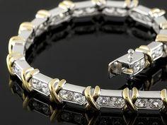 Bella Luce (R) 3.72ctw Round Rhodium & 18k Yellow Gold Over Sterling Silver Bracelet