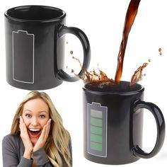 Novel Battery Color Changing Mug (Black)