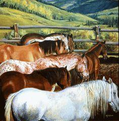 "NJ Busse Fine Art: Original Equine Painting ""Colorado Rainbow"" by Colorado Western Landscape Painter Nancee Jean Busse-http://njbussefineart.blogspot.com/2015/01/original-equine-painting-colorado.html"