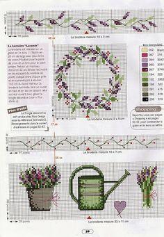 49 - galbut - Álbumes web de Picasa Mini Cross Stitch, Cross Stitch Cards, Cross Stitch Borders, Cross Stitch Flowers, Cross Stitching, Cross Stitch Embroidery, Cross Stitch Patterns, Lavender Crafts, Cross Stitch Collection