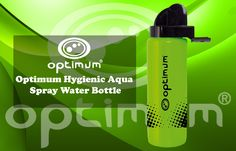 Shop Optimum Hygienic Aqua Spray Water Bottle, Green (Fluorescent Green/Black), One Size. Energy Drinks, Rugby, Drinking, Cool Designs, Aqua, Water Bottle, Sport, Products, Beverage