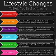 #lifestyle #changes to help deal with #acne  www.ZareBeauty.com  #DaretoZare #skin #skincare #skincareproducts #supplement #diet #nutrition #vitamins #beauty #healthy #naturalbeauty #glow #beautiful #woman #collagen #aloevera #antiageing