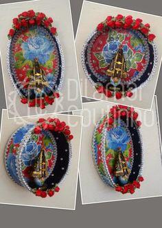 Mexican Art, Mexican Stuff, I'm A Believer, Diy Shadow Box, Sacred Art, Diy Box, Origami, Decorative Plates, Santa