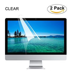 """[2PCS PACK] FORITO Clear Screen Protector for Apple iMac 21.5"""" Display Model"""