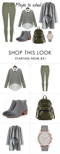 """""""School"""" by liveevil94 on Polyvore featuring moda, River Island, Marc by Marc Jacobs i Chicwish"""