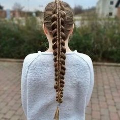 Hi Everyone  Today s tutorial is how to do a Dutch Infinity braid on     If you got long hairs  here are some fun ideas for long hairstyles which  you can do your self quick and easy